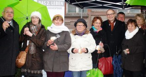 Werbung für Organspende Schwerin